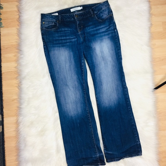 Torrid Distressed Relaxed Bootcut Jeans Size 16R
